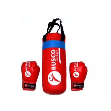 Детский боксерский набор Rusco 4oz, красный